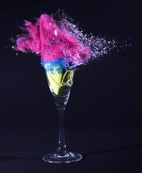 Champagne Glass, Explosion, Shot, Fragmented, Dynamics