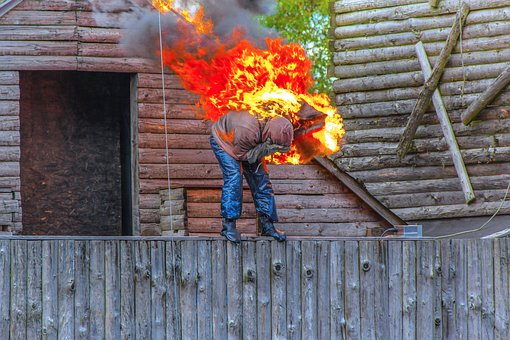 Show, Standman, Fire, Jump, Burns, Hot, Flaming, Flame
