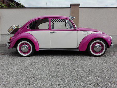 Beetle, Pop, Pink, Vw, Summer, Colorful, Gaudy