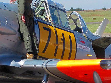 Harvard, Airplane, Aircraft, T-6, Texan, Trainer