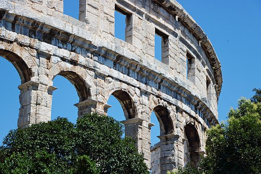 Amphitheater, Arcade, Roman, Building, Ruined, Rom