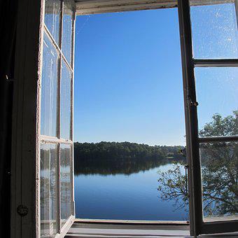 Mirroring, Water, Sweden, Himmel, Lake, Window