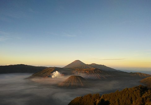 Volcano, Mount Bromo, Mount Semeru, Mountain, Landscape