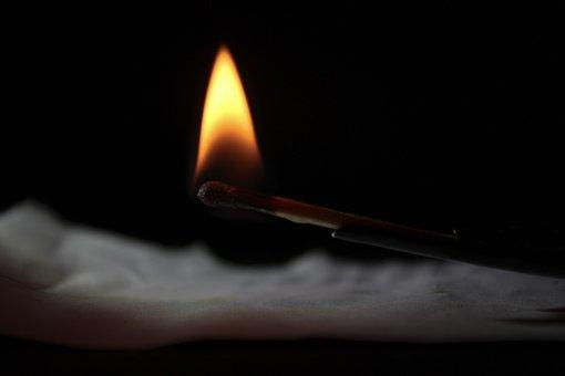 Matchstick, Burning, Fire, Light, Exposure, Focus