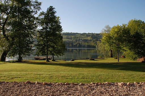 Garden, Lake, Landscape, Green, Calm, Nature, Water
