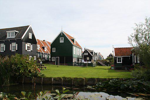 Marken, Holland, Netherlands, House, Village