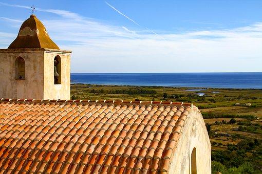 Church, Steeple, Roof, Sky, Water
