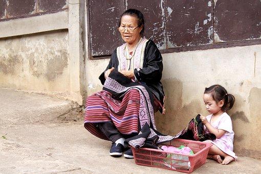 Grandma, Working, Thailand, Woman, Old, Work, Senior