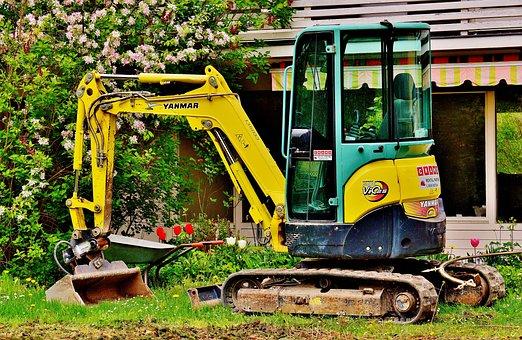 Excavators, Garden, Gardening, Machine, Backhoe Bucket