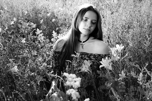 Lily, Girl, Photo, Model, Beauty, Bouquet, Girls