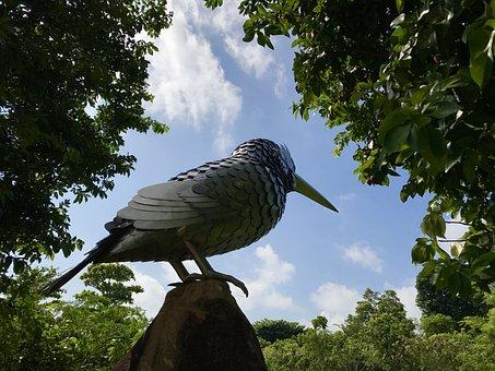 Bird, Sculpture, Design, Metal, Sky, Travel, Nature
