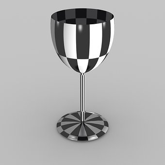 Chalice, Chequered, 3d, Model, Check, Checked, Design