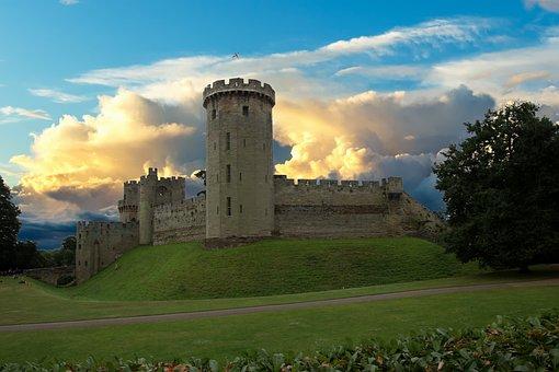 Warwick Castle, Fort, Warwick, Castle, Heritage, Tower