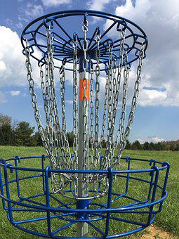 Disc Golf, Frisbee Golf, Disc Golf Basket