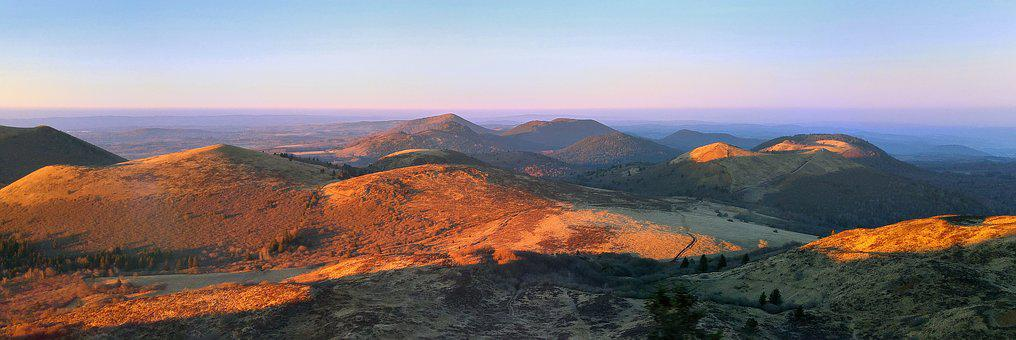 Puy-de-dome, Auvergne, Mountain, Evening, Twilight