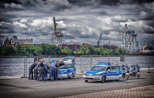 Police, Meeting, Break, Together, Teamwork, Cooperation