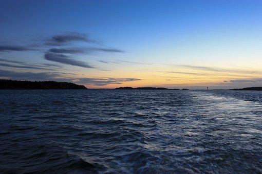 Baltic Sea, Sea, Sunset, Cloud, Sky, Nature, Water