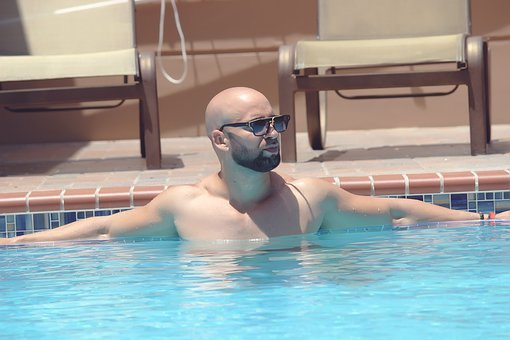 Man, Pool, Swimming, People, Lifestyle, Young, Person
