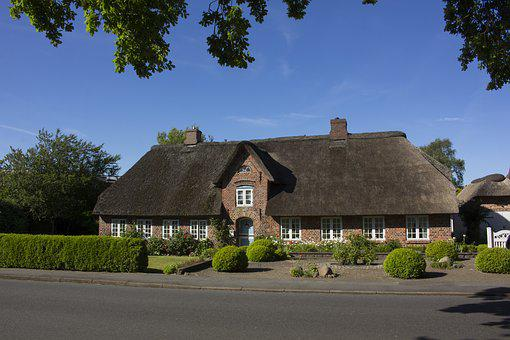 Friesenhaus, Home, Northern Germany, Thatched Roof