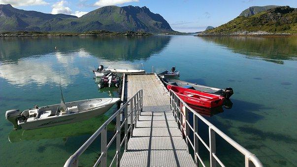 Norway, Lofoten, Boot, Fish, Water, Scandinavia, Fjord