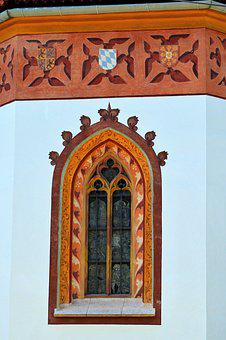 Church Window, Church, Architecture, Color, Painting