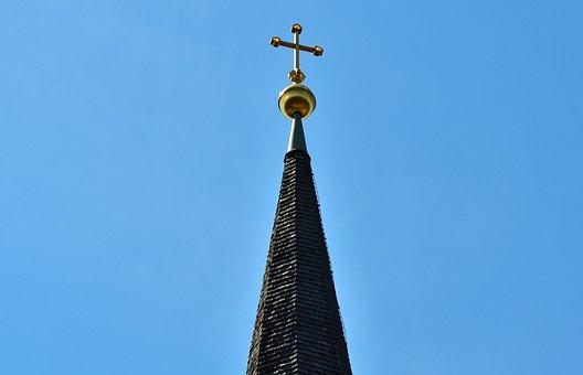 Spire, Steeple, Great, Church, Cross, Building