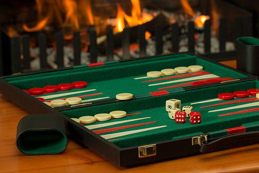 Backgammon, Board Game, Fireside, Competition