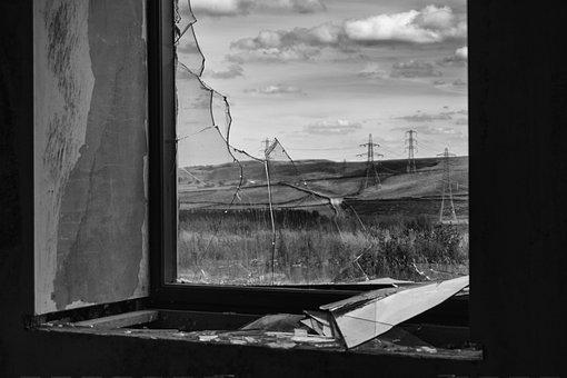 Broken, Window, Damage, Destruction, Shattered, Frame