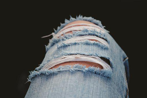 Ripped, Jeans, Ripped Jeans, Pants, Denim, Blue