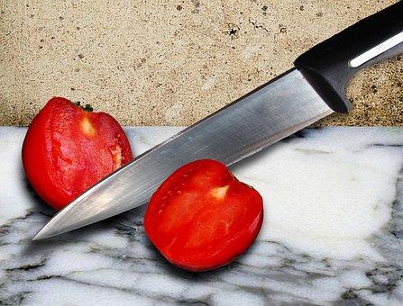 Tomato, Cut, Knife, Grown, Design, Image Editing