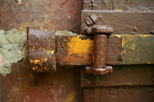 Door Latch, Locked, Fitting, Input, Locks To, Old Door