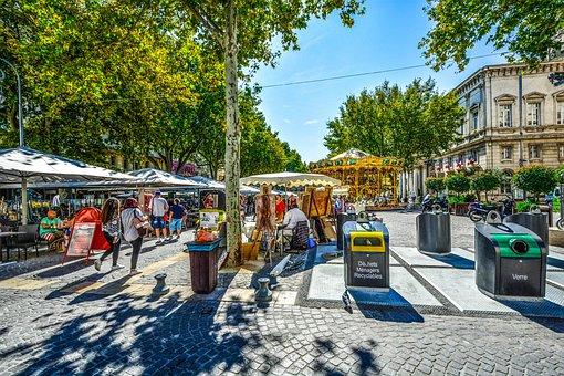 Provence, Avignon, Market, Fair, Carousel