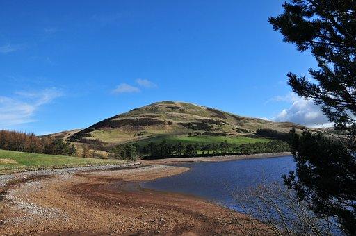 Lake, Hills, Landscape, Nature, Mountain, Travel, Water