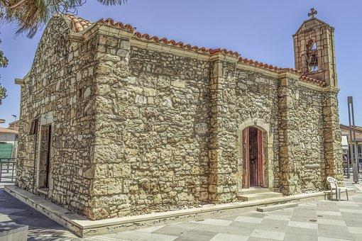 Cyprus, Kiti, Archangelos, Church, Architecture, Old