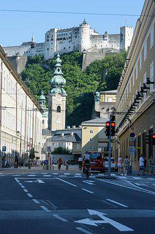 Salzburg, Fixed, Austria, Old Town, Fortress, Mönchberg