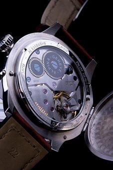 Watch, Jewel, Silver, Dial, Time, Minute, Clockwork