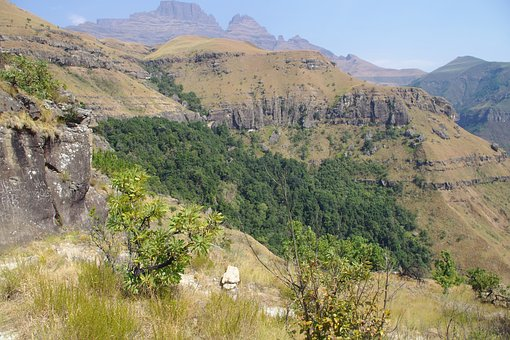 South Africa, Drakensberg Mountains, Hiking Trails, Sky