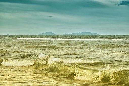 Sea, Water, Sky, Ocean, Blue, Wave, Nature, Tropical