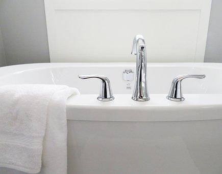 Bathtub, Tub, Bathroom, Bath, White, Modern, Hygiene