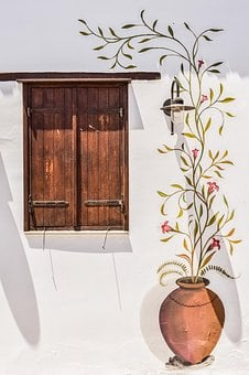 Wall, Window, Painting, Motif, Traditional