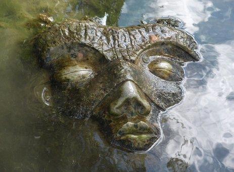 Face, Water, Sculpture, Wet, Source