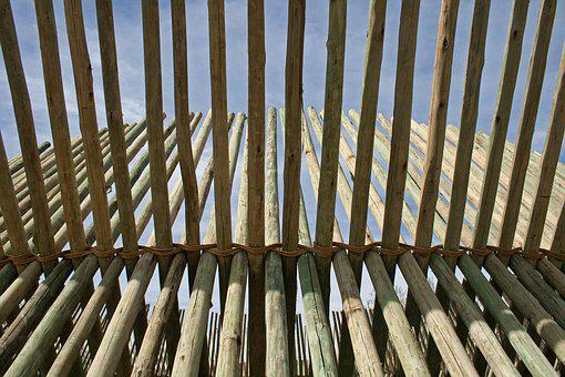 Pole Structure, Sculpture, Wood, Beams, Intersecting