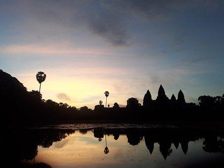 Angkorwat, Cambodia, Sunrise