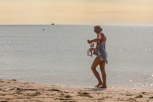 Girl, Beach, Model, Summer, Vacation, Water, Woman