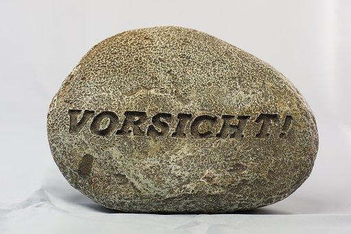 Stone, Font, Grey, Free, Caution