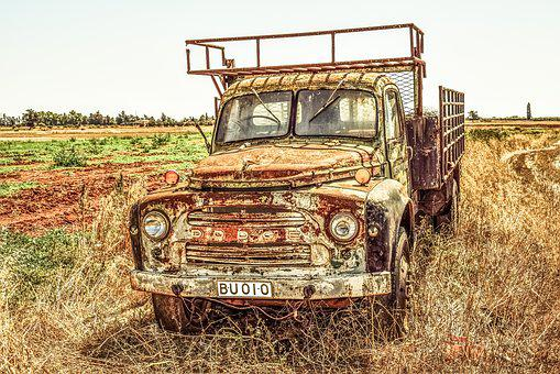Old Truck, Lorry, Car, Countryside, Rural, Vehicle