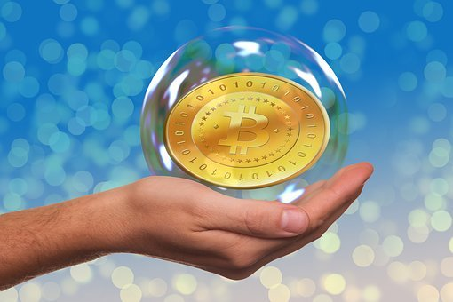 Soap Bubble, Bitcoin, Hand, Keep, Currency, Present