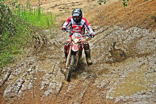 Motorcycle, Mud, Enduro, Motocross, Cross, Dirtbike