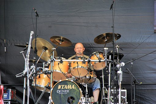 Drums, Music, Band, Drummer, Dam, Edersee, Wall Power