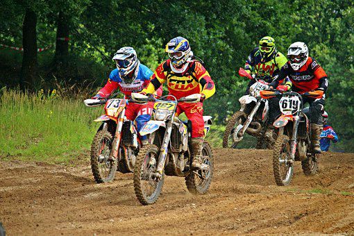 Enduro, Start, Motocross, Field, Motorcycle, Sport